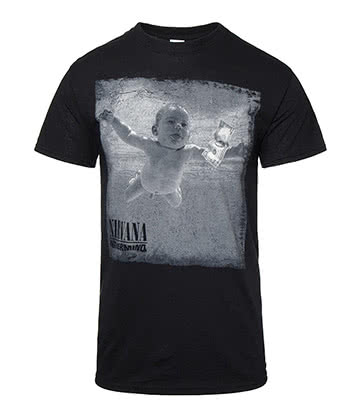 Official Nirvana Nevermind T Shirt (Black)