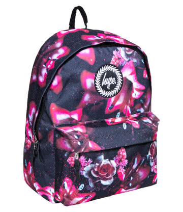 Hype Pink Rose Backpack (Multicoloured)