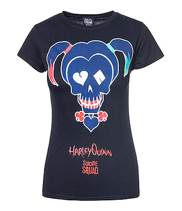 Suicide Squad Harley Quinn Icon T Shirt (Black)