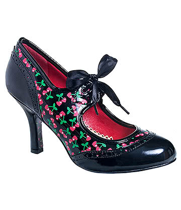 Banned Dancing in the Street High Heeled Vintage Shoes (Black)