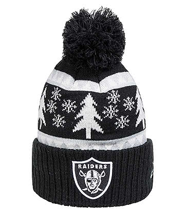 New Era Oakland Raiders Snow Pine Bobble Hat (Multicoloured)