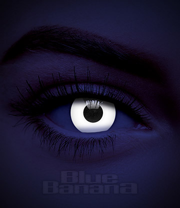 UV i-Glow Halloween 1 Day Coloured Contact Lenses (White)