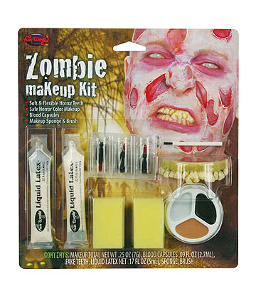 Blue Banana Paint Kit De Peinture Visage Faux Sang Et Latex - Zombie