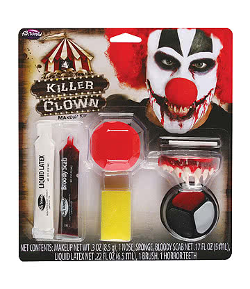 Blue Banana Killer Clown Face Paint Kit (Multicoloured)