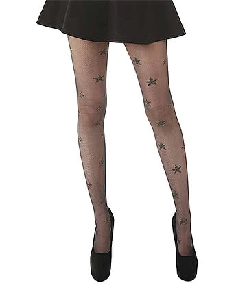 Pamela Mann Sparkly Stars Tights (Black/Gold)