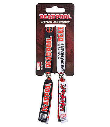 Marvel Deadpool Festival Wristbands (Black/Red)