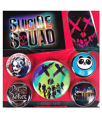 Suicide Squad Faces Badge Pack