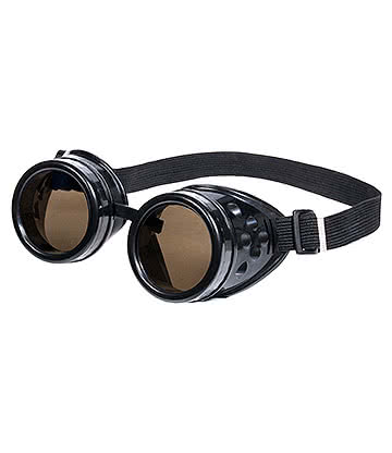 Blue Banana Steampunk Vented Goggles (Black)