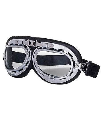 Blue Banana Steampunk Bike Style Goggles (Chrome)