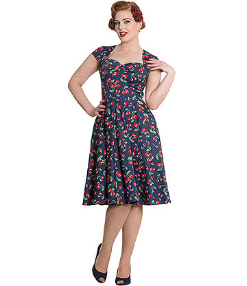 Hell Bunny April Dress (Blue)