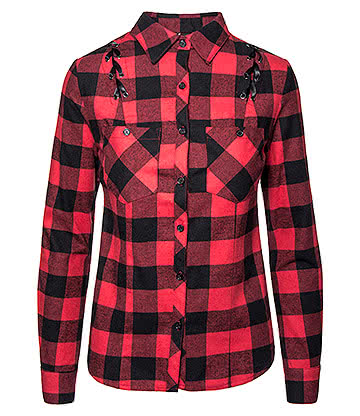 Banned Chequered Corset Shirt (Black/Red)