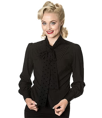 Banned Sent With Love Blouse (Black)