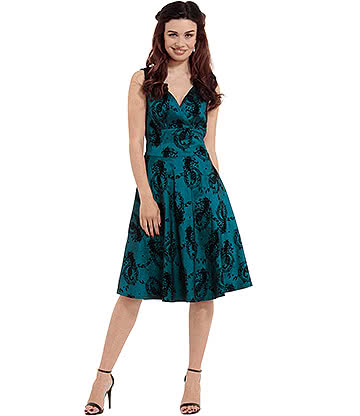 Voodoo Vixen Betty Boo Blue Dress (Blue)