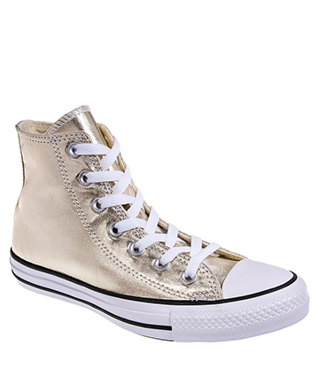 Converse All Star Metallic Hi Top Boots (Light Gold)