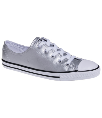 Converse All Star Dainty Metallic Shoes (Silver)
