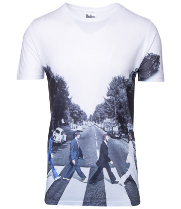 Official The Beatles Abbey Road T Shirt (White)
