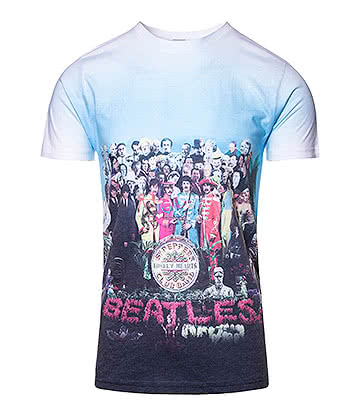 Official The Beatles Sgt Pepper's T Shirt (White)