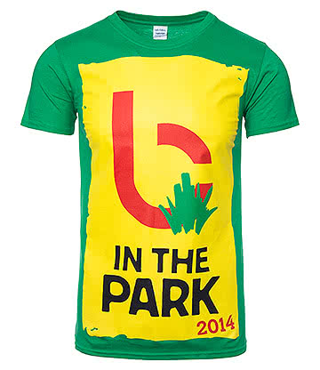 Official Biffy Clyro B in the Park T Shirt (Green)