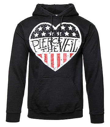 Official Pierce The Veil American Heart Hoodie (Black)