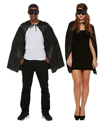 Superheld Fancy Dress Kostüm (Schwarz)