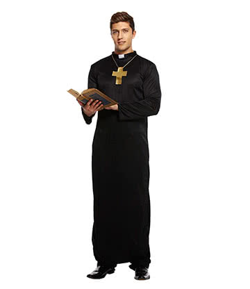 Blue Banana Vicar Adult Fancy Dress Costume (Black)