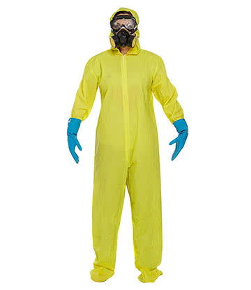 Protective Suit Fancy Dress Costume (Yellow)
