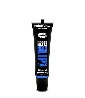 Paintglow UV Neon Lip Gloss 15ml (Blueberry Blitz)