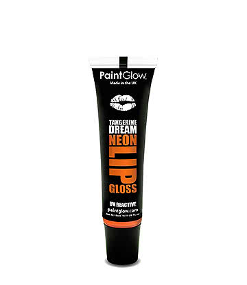 Paintglow UV Neon Gloss A Lèvres Brillant Sous Les Néons Fruité 15ml Orange (Tangerine Dream - Mandarine)