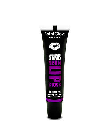 Paintglow UV Neon Lip Gloss 15ml (Blackcurrant Jack)