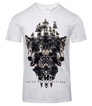 Official Bring Me The Horizon Wolven T Shirt (White)