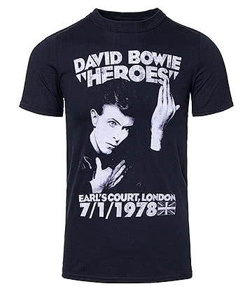 Official David Bowie Heroes Earls Court T Shirt (Black)