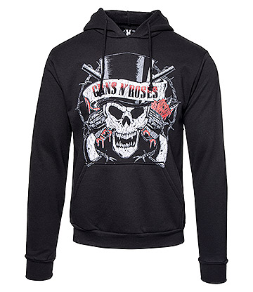 Official Guns N Roses Distressed Skull Hoodie (Black)
