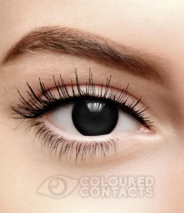Blind Zombie Halloween 1 Day Coloured Contact Lenses (Black)
