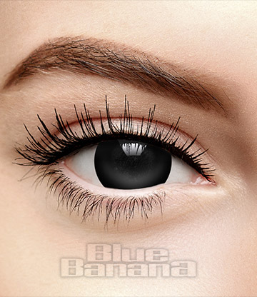Mini Sclera Halloween 1 Day Coloured Contact Lenses (Black)