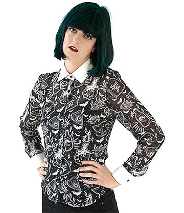 Fearless Illustration Willow Shirt (Black)