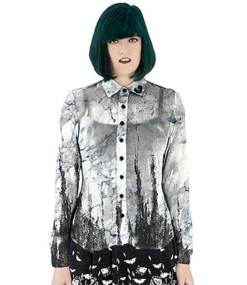 Fearless Illustration Narcissa Shirt (Black/White)