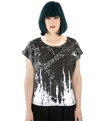 Fearless Illustration Bellatrix Slouch Fit Top (Black/White)