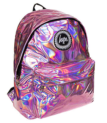 Hype Holographic Backpack (Pink)