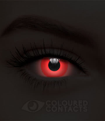 UV i-Glow 90 Day Coloured Contact Lenses (Red)