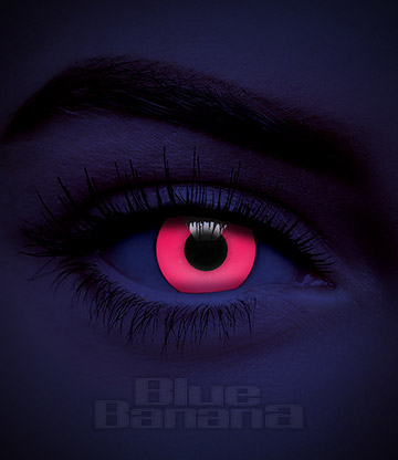 UV i-Glow 30 Day Coloured Contact Lenses (Red)