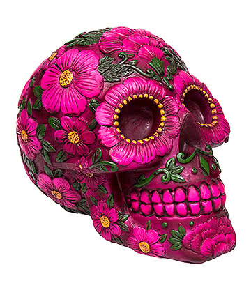 Nemesis Now Sugar Skull Blossom Moneybox (Multicoloured)