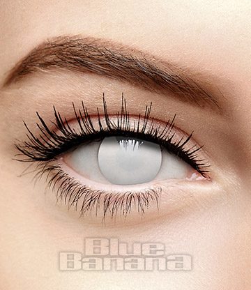 Blind Zombie Halloween 1 Day Coloured Contact Lenses (White)