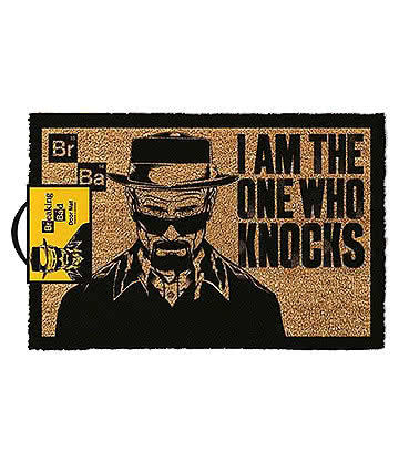 Breaking Bad I Am The One Who Knocks Paillasson Pour Entrée - Tapis (Noir/Jaune)