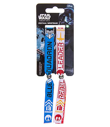 Star Wars Rogue One Rebels Fabric Wristbands (Multicoloured)