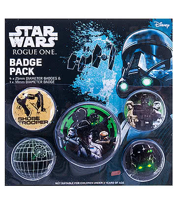 Star Wars Rogue One Empire Badges Pack (Pack of 5)