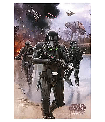 Póster Star Wars Rogue One Death Trooper Beach