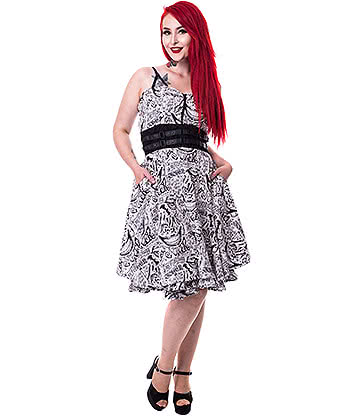 Suicide Squad Joker Tattoo Dress (White)