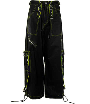 Dead Threads Terror Trousers (Black/Lime Green)