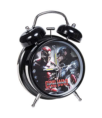 Marvel Comics Captain America Civil War Alarm Clock (Multicoloured)