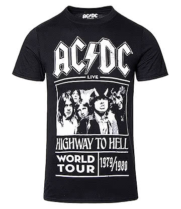 Official AC/DC Highway To Hell Tour T Shirt (Black)